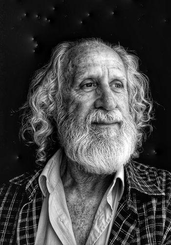 Close-Up Portrait Of Senior Man