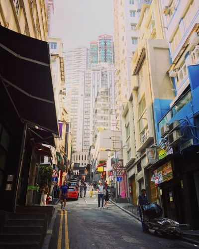 香港 中環 Soho Building Exterior HongKong Street Street Scene 香港旅行 3XSPUnity Enjoying Life Hello World Relaxing Travel Destinations City