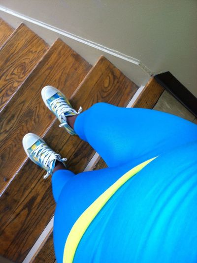 Today's look... Blue n yellow