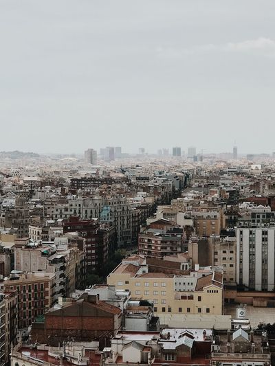 Barcelona Building Exterior City Architecture Built Structure Cityscape Sky Building High Angle View Nature Day Crowd Residential District Crowded Outdoors Copy Space Community Clear Sky City Life Landscape Settlement