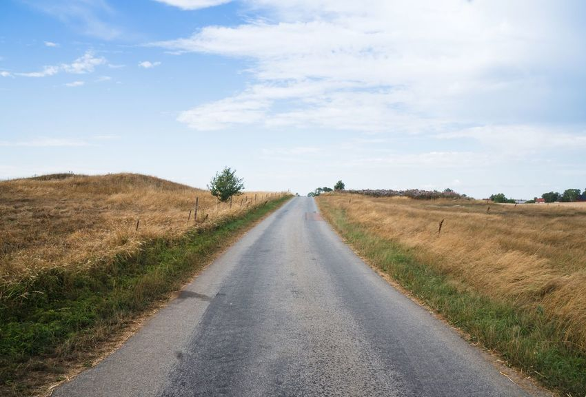 Onwards Onward Road Sky Direction The Way Forward Transportation Diminishing Perspective Landscape Field Tranquil Scene Tranquility Rural Scene No People