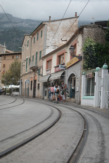 Road with buildings in background