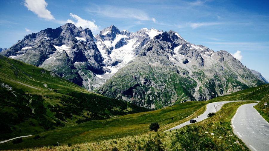 French Alps Mountains And Sky Beautiful Nature Mountains Mountain View Mountain Road Mountains And Valleys Mountainscape Landscape Outdoors Outdoor Photography Route Du Galibier Mountain_collection