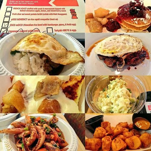 Compilation of the great food I ate thanks to @freshstreet x @the_commissary