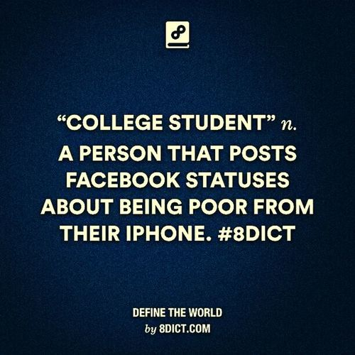 Student Life IPhone Poor