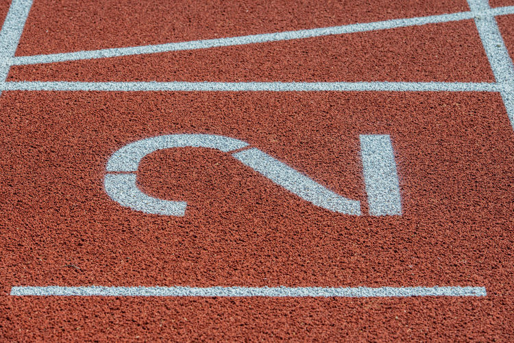 Runway mark on an athletics track Athletics Copy Space CutOut Flooring LINE Marker Sprint Sprint Track Square Stadium Track And Field Background Competitive Sport European Championship  Shield Sport Sports Ground Striped Tartan Track Track Marker Training World Cup