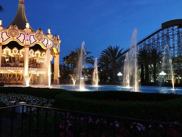 Amusement Park Watershow Carousel Santaclara California Great America Night Lights EyeEmNewHere