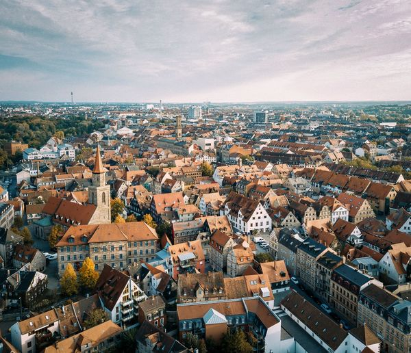 Fürth Franken Bayern Deutschland EyeEm Selects City Building Exterior Architecture Built Structure High Angle View Cityscape Building Residential District Crowd Cloud - Sky TOWNSCAPE Town Roof