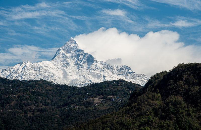 Annapurna massif mountains himalayas pokhara north central nepal asia.
