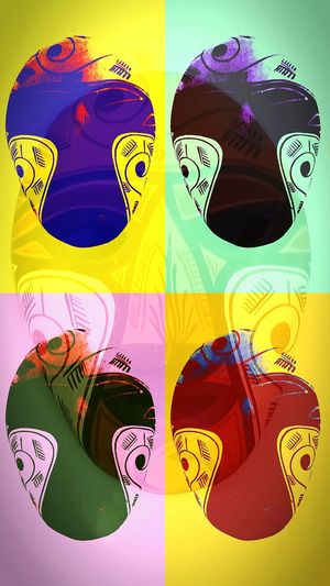 Warhol Style Warhol Inspired Art At Home Fantasy Funny Faces AMPt - Home From Home