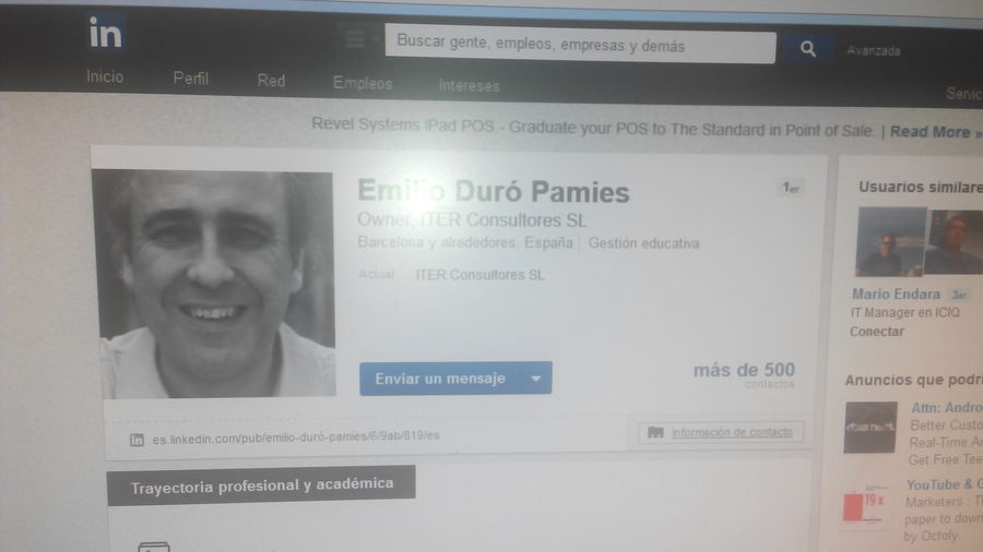 My new follower on Linked In Emilioduro @nunotecnologias good monday!