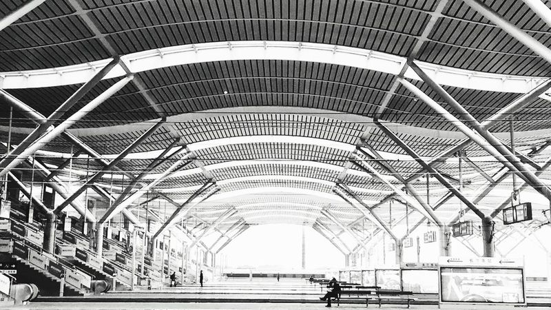 Empty station platform Architecture Built Structure Transportation Rail Transportation Modern Empty Grand Changsha, Hunan By Iphone 6+
