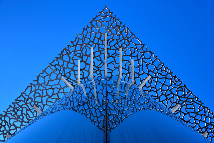 Filigree Architecture France Sky Glass Blue Exterior Marseille Europe Clear Sky No People Low Angle View Built Structure Marseille, France FR250_MARSEILLE_AK FR250_FRANCE_AK