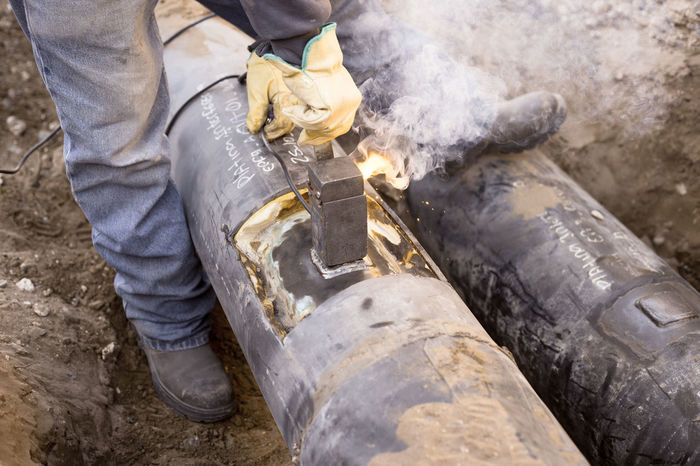 Petroleum Cathodic Cathodic Protection Corrosion Fire Flowline Leisure Activity No People Oil Oil&gas Tools Unrecognizable Person Welding Work Working