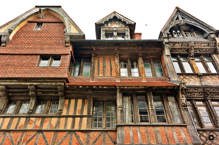 Architecture Façade Historic Maison à Colombages Normandie Normandy Outdoors Timbered House Townhouse