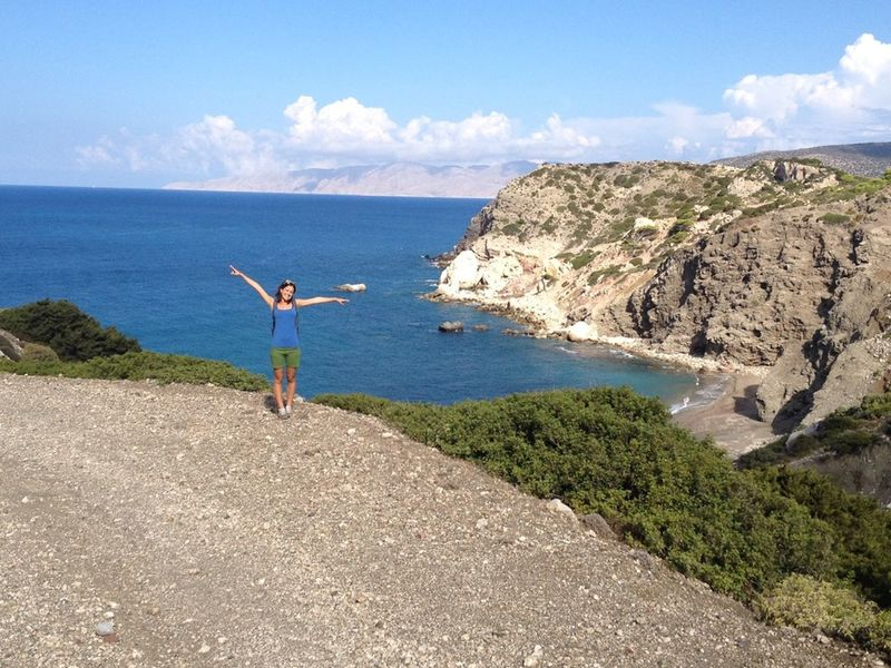 Adult Beach Beauty In Nature Cloud - Sky Coastline Day Friendship Full Length Greece Horizon Over Water Lifestyles Monolithos Nature Outdoors People Real People Rear View Rhodes Greece Rock - Object Scenics Sea Sister Sky Standing Water Women Around The World
