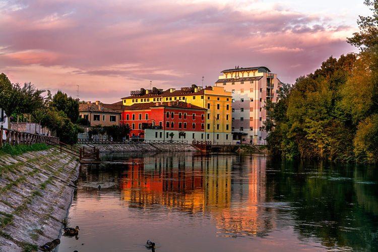 Restera Treviso Architecture Building Building Exterior Built Structure Cloud - Sky House Lake Nature No People Outdoors Plant Reflection Residential District Restera Treviso River Sile River Silence Sky Sunset Tree Water Waterfront