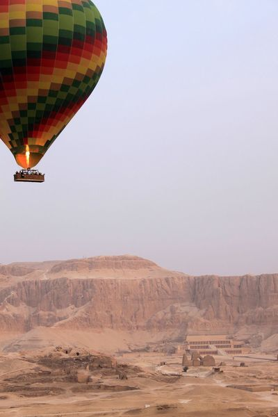 Adventre Balloon Egypt Egyptian Finding New Frontiers Landscape Mountains Temple Valley Of The Kings