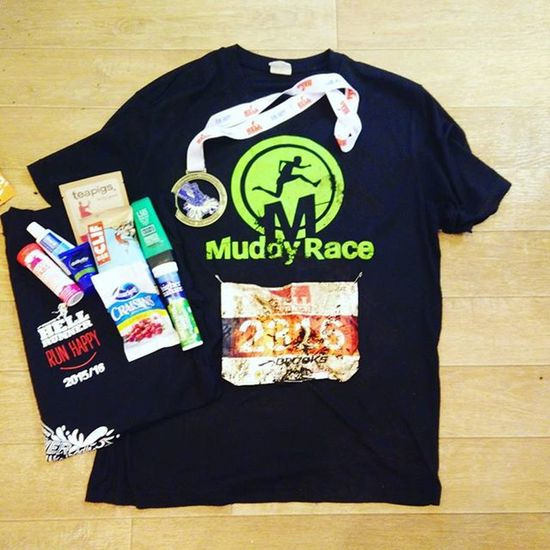 Hell runner half-marathon through delamere forest today. Thought the free goodies were worth showing off 👍 Good course but lots of bottlenecks (that's what you get for starting in wave 2!) Hellrunner Halfmarathon Muddyrace Ocr Obstaclecourserace Medal Freebies Freestuff Race Running Delamereforest Run