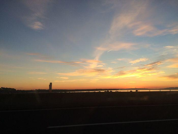 Sunshine Sunset River On The Road