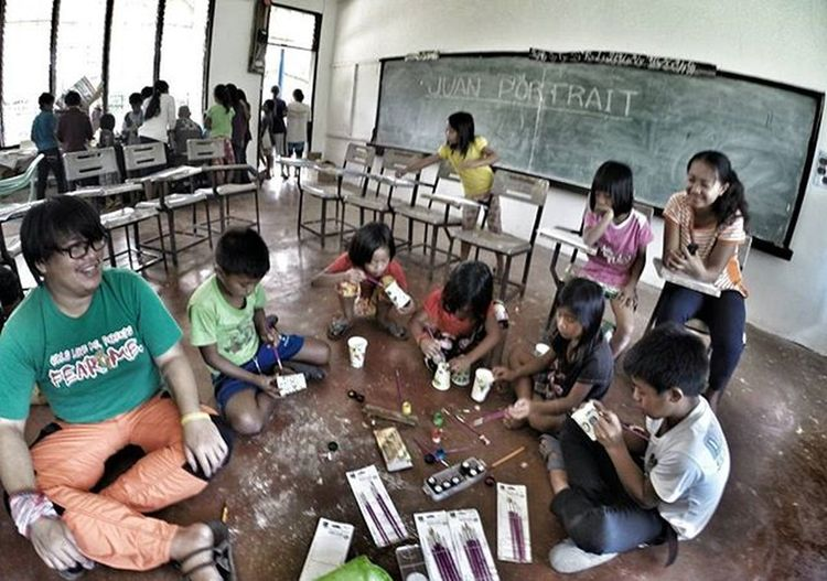 Art workshop with the kids of nattum.. With JuanPortrait Pinoywanderer Doyoutravel Theglobewanderer Discoverearth Travel_pic Amazing_pictures Goprouniverse Goworldwide Goprophotography_ Goproph  Gopro