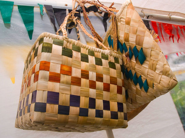 Port Vila Vanuatu Basket Beach Blue Sky Blue Water Close-up Cultures Day Fruit Hanging Melanesia Multi Colored No People Outdoors Pacific Ocean Retail  Tourism Travel Destinations Vivid International Woven Baskets
