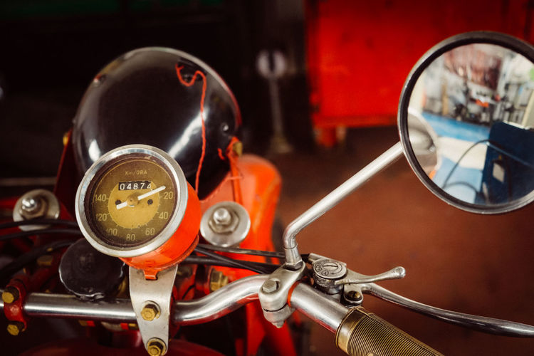 Extreme Close Up Of A Motorbike