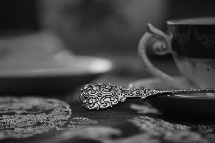 Close-Up Of Old-Fashioned Teaspoon