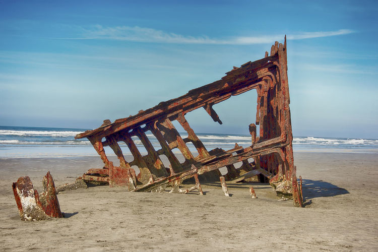 The Wreck of the Peter Iredale Beach Water Sea Sky Obsolete Abandoned Land Damaged Run-down Shipwreck Deterioration Decline Nature Old Wood - Material No People Cloud - Sky Rusty Sand Horizon Over Water Ruined Outdoors Wreck Boat Pacific Ocean