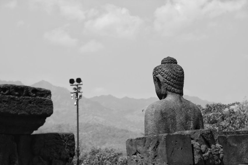 Statue at Borobudur Statue Borobudur Temple Buddha Indonesia_photography Blackandwhitephotography