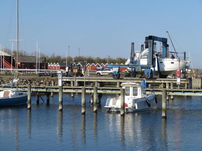 Water Nautical Vessel Harbor Sea Moored Clear Sky Blue Mast Buoy