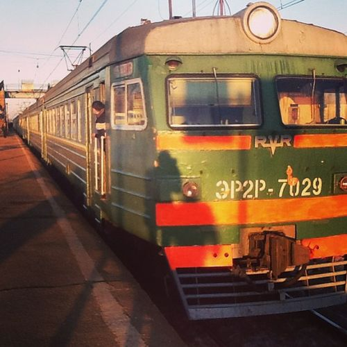 Rzd Moscow Train Sunset