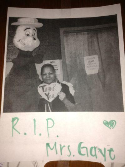 R.I.P. Mrs.Gaye Gone But Never Forgotten. <3