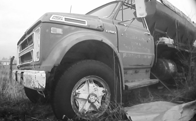Rural Scenes Black & White Outdoors Old Chevy Truck