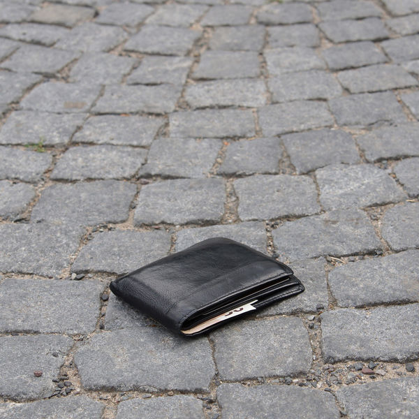 Cash Cobblestone Euro Euros Lost Money Sidewalk Street Wallet