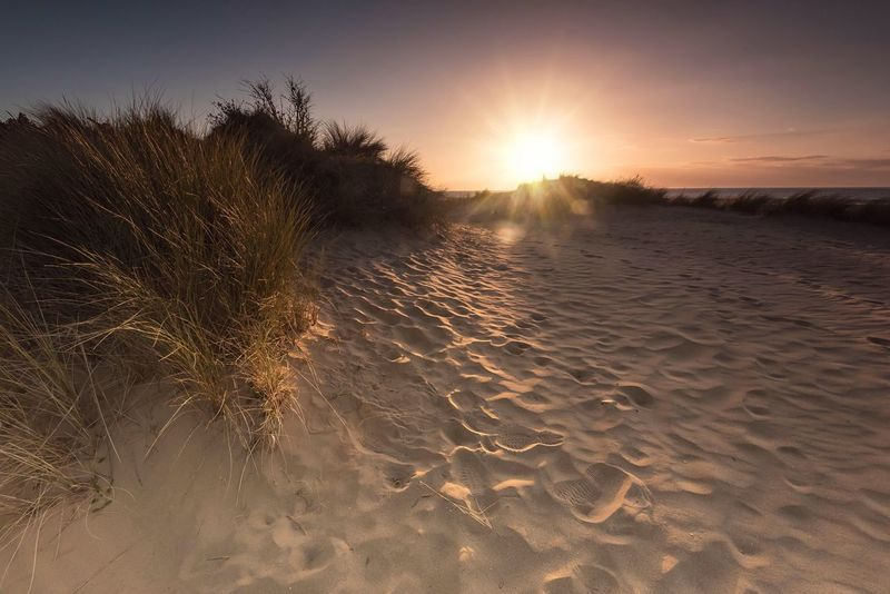 Dune Dusk Nature Sunlight Sunset Tranquility Sand Sandy Beach Sand Patterns Beachphotography Beach Sunset Seaside Hunstanton Travel Destinations EyeEm Gallery EyeEm Masterclass Norfolk Uk Sand Dune Sky And Sand The Great Outdoors - 2017 EyeEm Awards