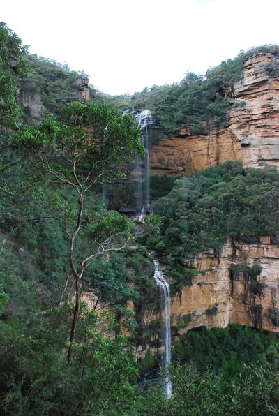 Waterfalls at Blue Mountains National Park, Australia 2012 Architecture Beauty In Nature Day Forest Mountain Nature No People Outdoors Scenics Sky Tree Water Waterfall