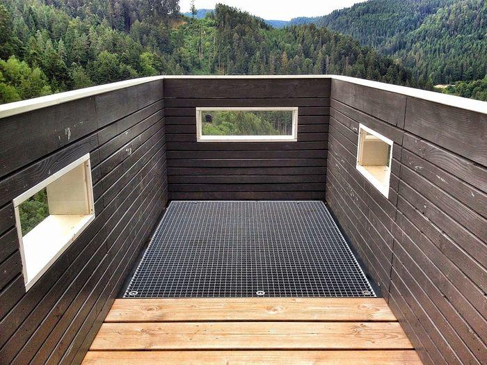 Aussichtsplattform auf die vier Bahnen Nature Hike Triberg Vierbahnenblick Railroad Love Platform