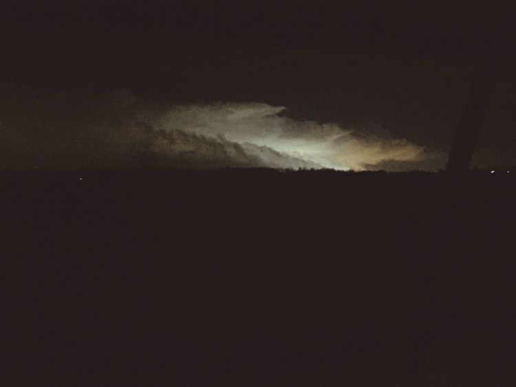 View of winter storm
