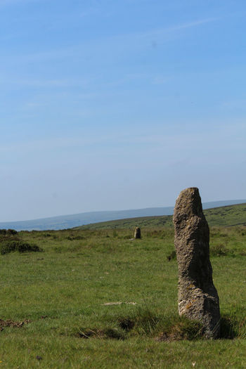 Beauty In Nature Tranquility Nature Grass Travel Destinations Outdoors Day Sky Landscape Beauty In Nature No People Uk Devon Dartmoor Standing Stones Ancient Civilization Ancient Stones
