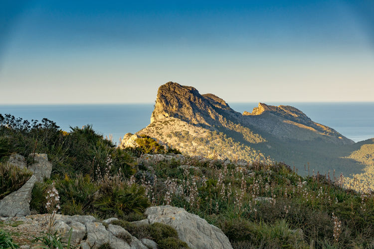 Rock - Object Nature Mountain No People Beauty In Nature Scenics Sky Outdoors Malephotographerofthemonth Mallorcaphotographer Sunset Evening Sky Evening Lights Mediterranean  Cap Formentor