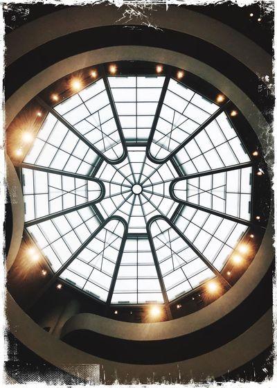 Gugenhain Museum New York City Indoors  No People Geometric Shape Ceiling Shape Circle Illuminated Architecture