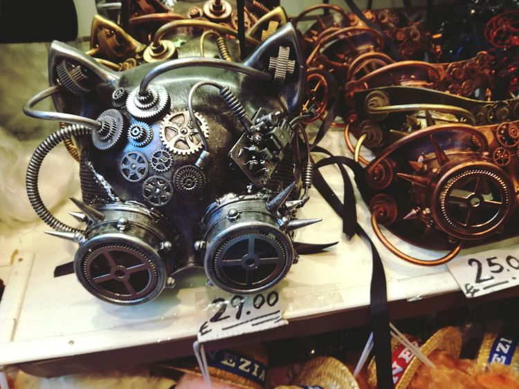 Masks Metal Close-up Technology Carneval RobotSpirits Arts Culture And Entertainment Day Weird Cool Catmask