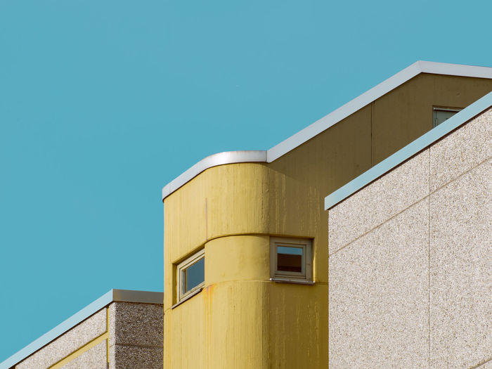 Apartment Architecture Berlin Blue Building Exterior Built Structure City Clear Sky Exterior Geometry Minimalism Pastel Power Residential Structure Urban Geometry West Berlin Minimalist Architecture