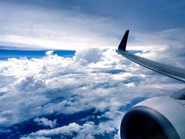 soft blue.. Sky And Sea Blue Sky Garuda Indonesia Flying