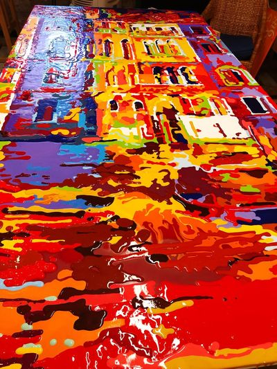 Work of progres Working Galleria Levantina Levantina Factory Venezia David Ariel Multi Colored No People Full Frame Backgrounds Close-up Creativity Indoors  Art And Craft Textured  Paint Vibrant Color
