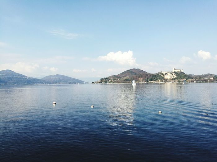 Arona Italy Water Mountain Lake Lake View LagoMaggiore💞 Beauty In Nature Outdoors Day Sunset FriendsReunion