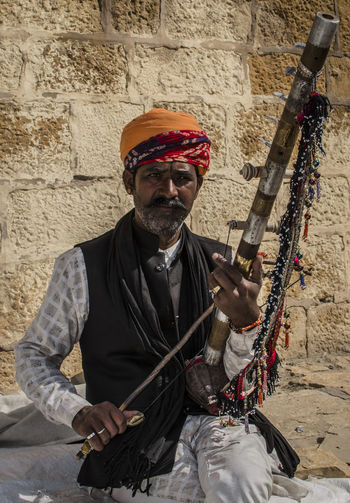 The dying art of local musicians Adults Only Beard Cultures Jaisalmerdiaries Looking At Camera Music Musical Instrument Musician One Man Only One Senior Man Only Portrait Rajasthandiaries Rajasthani Rajasthani Culture Skill  Traditional Clothing
