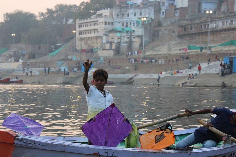 Kite boy on the Ganges