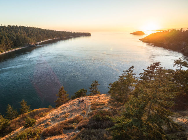 Deception Pass Beauty In Nature Day Lake Landscape Mountain Nature No People Outdoors Scenics Sky Sunset Tranquil Scene Tranquility Tree Water